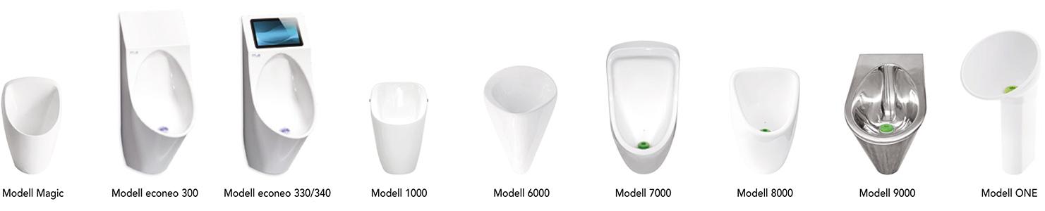 Wasserlose Urinale & Pissoirs von KemtEc®, vormals System ERNST®
