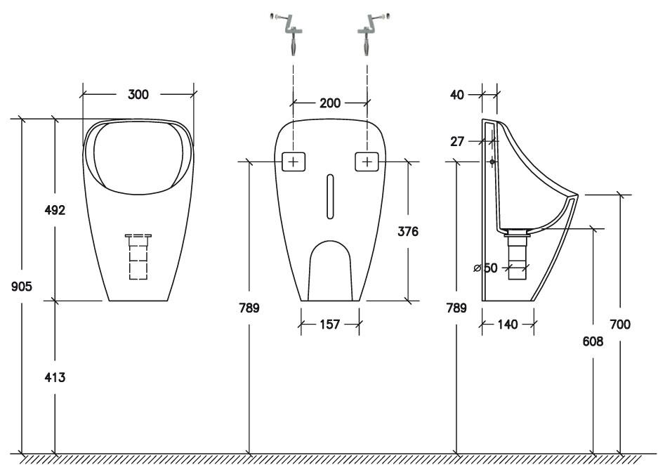 kemtec urinal 1000 trockenurinale kemtec sanit rtechnik von kemmler kompetenter partner. Black Bedroom Furniture Sets. Home Design Ideas